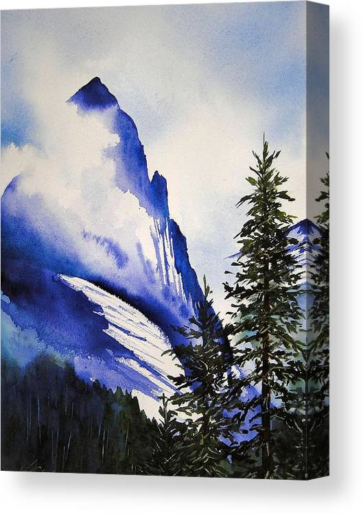 Rocky Mountains Canvas Print featuring the painting Rocky Mountain High by Karen Stark