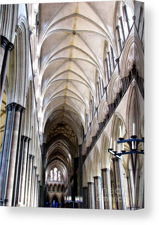 Salisbury Canvas Print featuring the photograph Salisbury Cathedral by Amanda Barcon