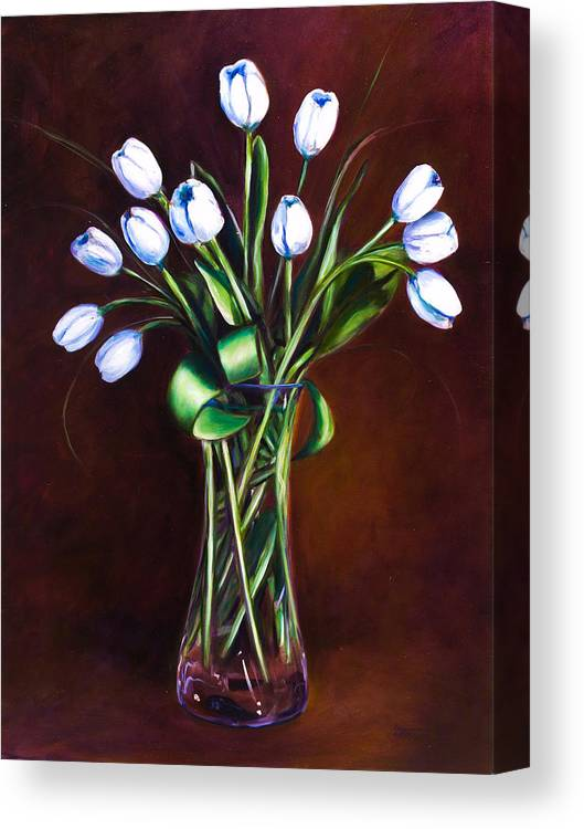 Shannon Grissom Canvas Print featuring the painting Simply Tulips by Shannon Grissom