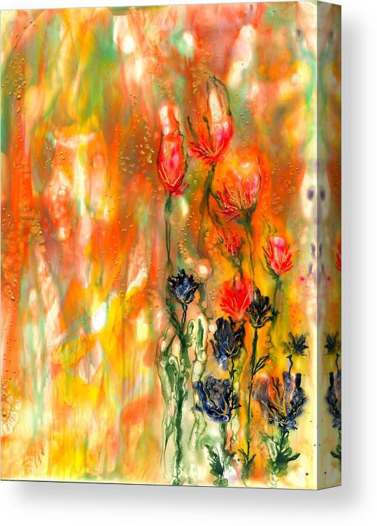 Healing .spring Canvas Print featuring the painting Spring Garden Healing by Heather Hennick