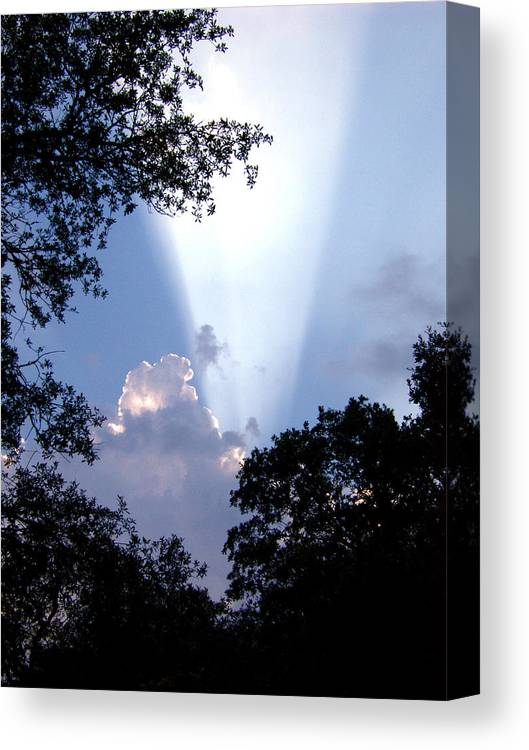Sky Canvas Print featuring the photograph Sunbeam by Nicole I Hamilton