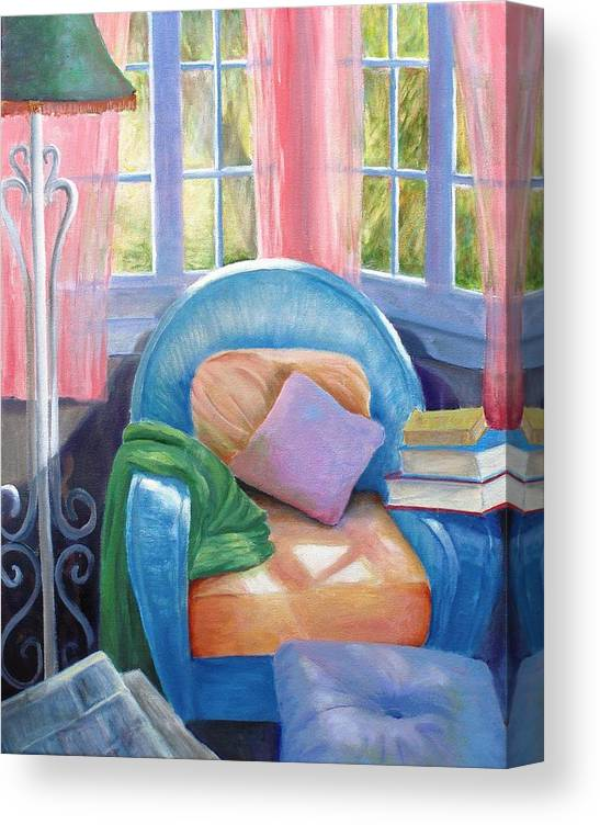 Interior Canvas Print featuring the painting Sunday Afternoon by Dorothy Nalls