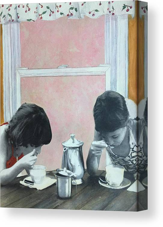 Tea Party Canvas Print featuring the painting Tea Party by Leah Tomaino