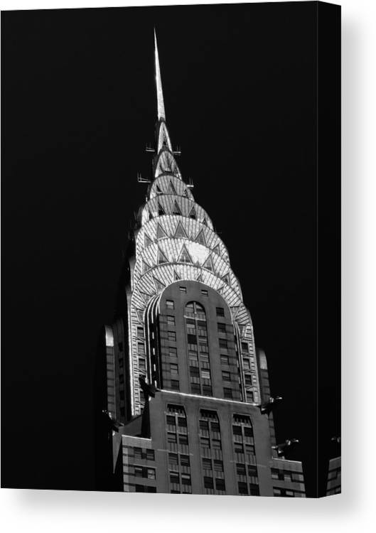 Chrysler Building Canvas Print featuring the photograph The Chrysler Building by Vivienne Gucwa