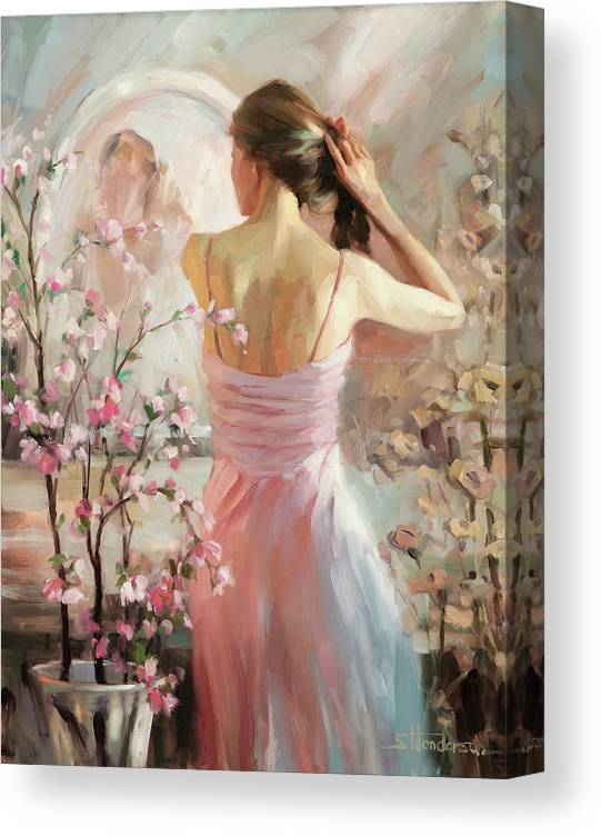 Woman Canvas Print featuring the painting The Evening Ahead by Steve Henderson