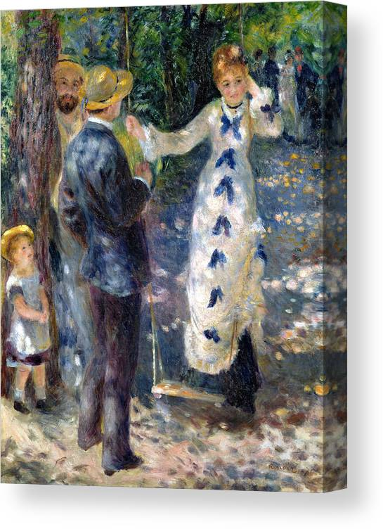 Renoir Swing Design Canvas Print Picture Painting Frame Home Furnishings