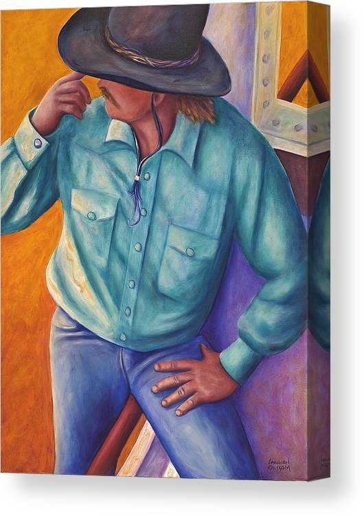 Cowboy Canvas Print featuring the painting Travelin Man by Shannon Grissom