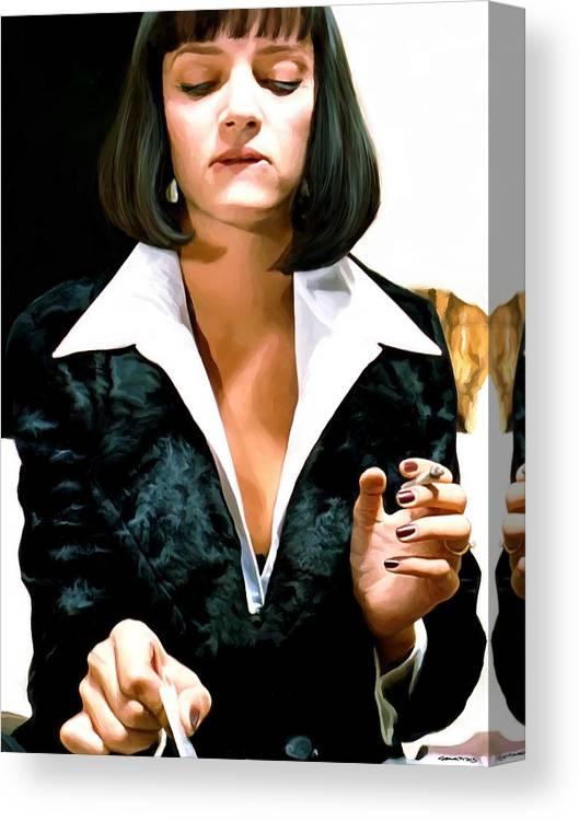 Uma Thurman Pulp Fiction Canvas Print Canvas Art By Gabriel T Toro