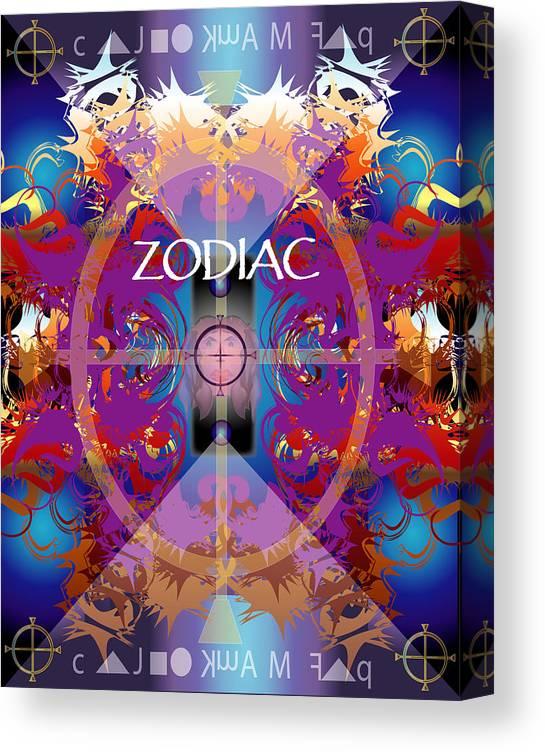 Abstaract Canvas Print featuring the digital art Zodiac 2 by George Pasini