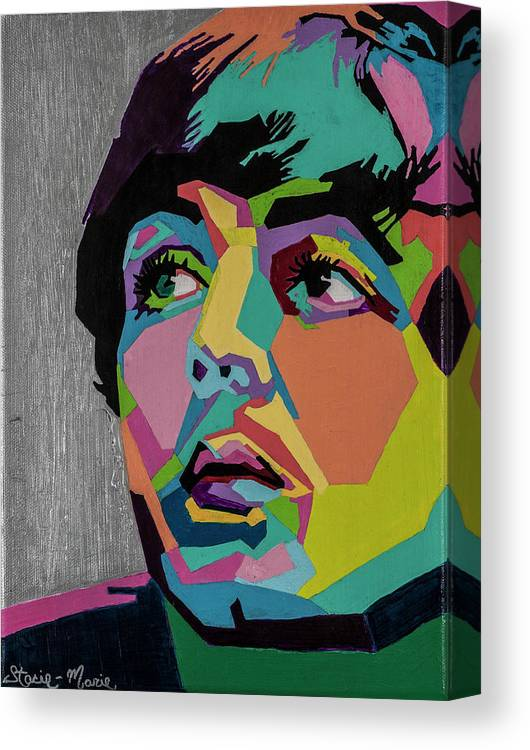 Paul Mccartney Canvas Print featuring the painting Sir Paul McCartney by Stacie Marie