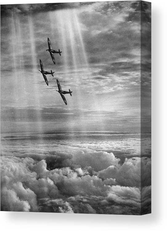 Tranquility Canvas Print featuring the photograph Supermarine Spitfire by Fox Photos