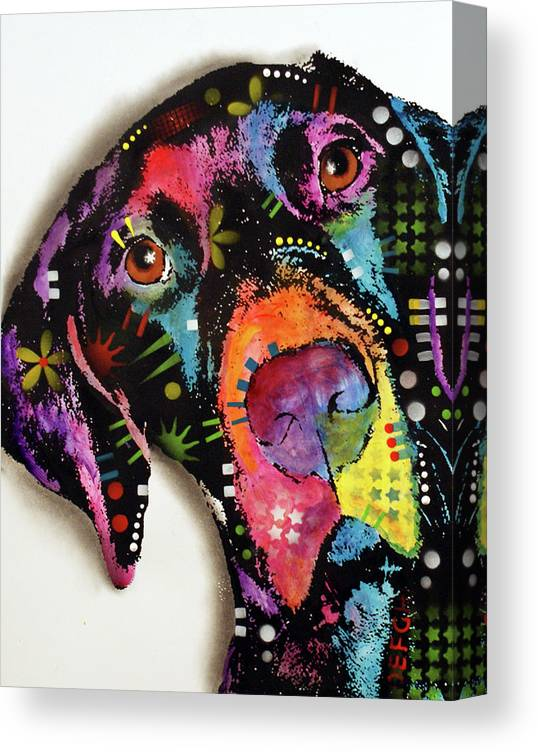 Pointer Canvas Print featuring the mixed media Pointer by Dean Russo