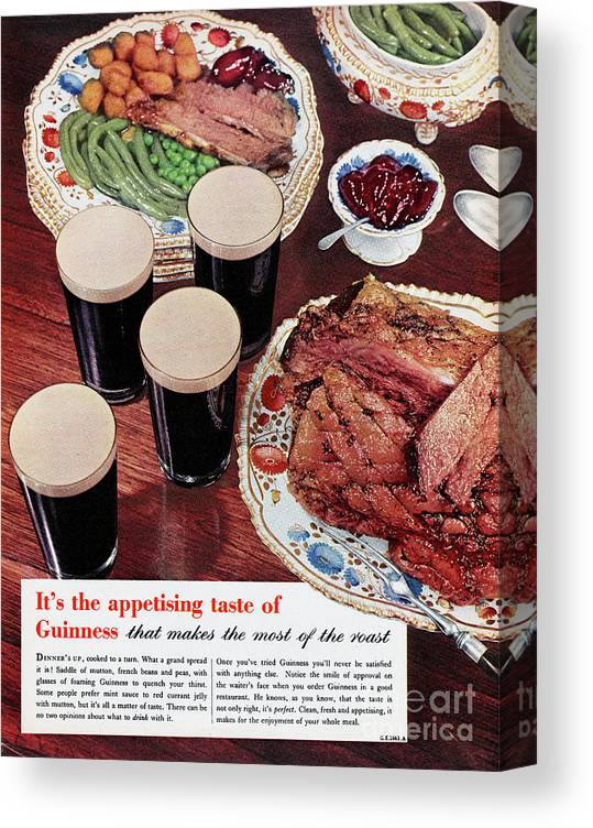 Stout Ale Canvas Print featuring the photograph Guinness by Picture Post