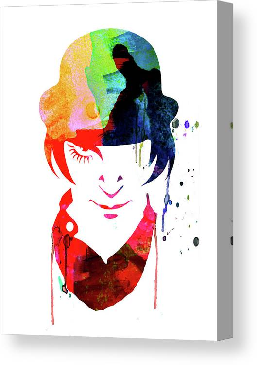 Movies Canvas Print featuring the mixed media Alex Watercolor by Naxart Studio