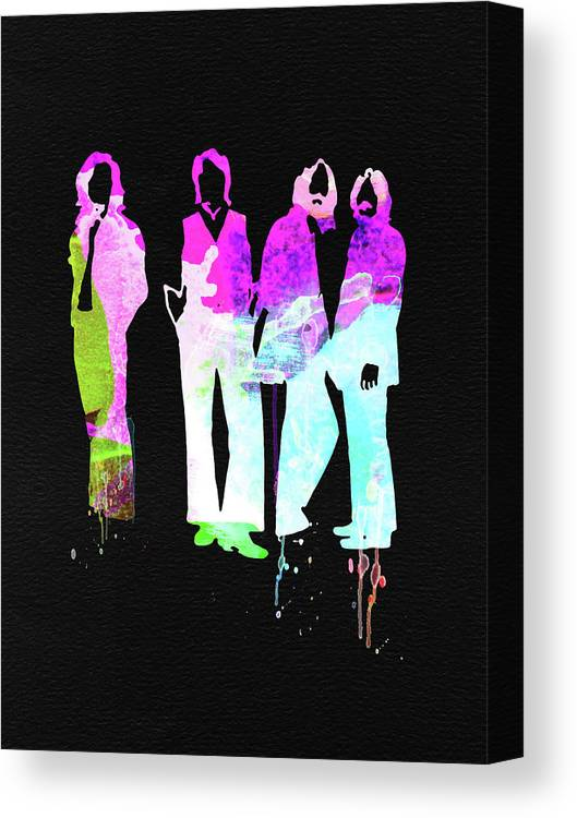 Canvas Print featuring the mixed media Beatles Watercolor II by Naxart Studio