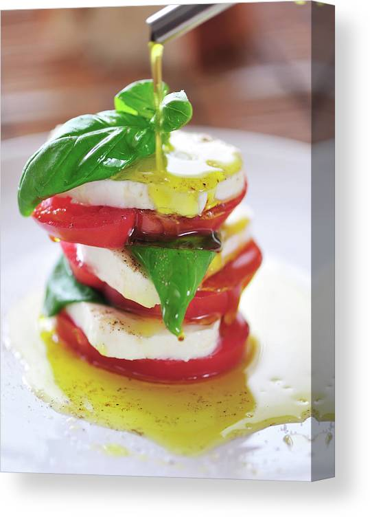 Caprese Salad Canvas Print featuring the photograph Caprese by Tanya f