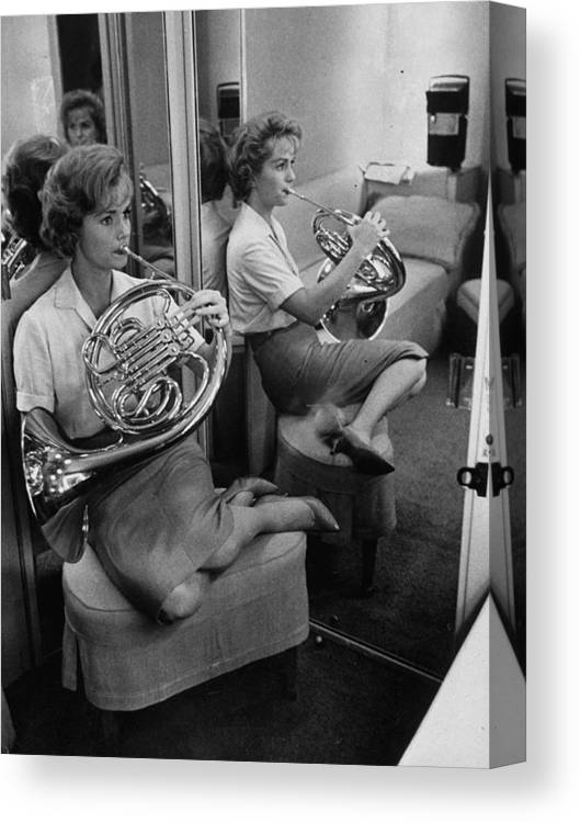 Timeincown Canvas Print featuring the photograph Debbie Reynolds by Allan Grant