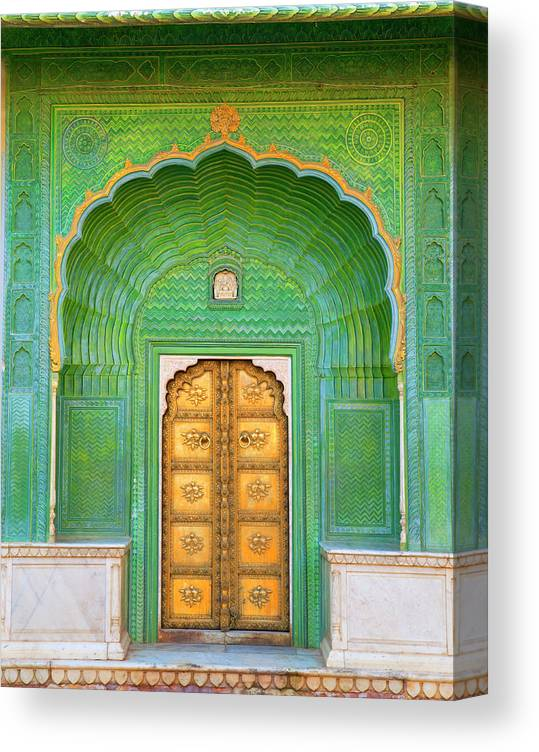Tranquility Canvas Print featuring the photograph Entrance To Palace by Grant Faint