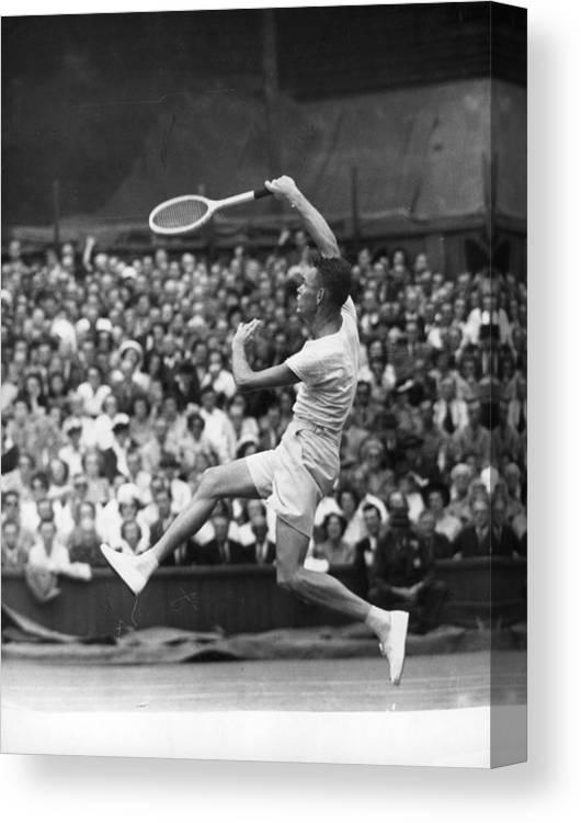 Tennis Canvas Print featuring the photograph Jack Kramer by Douglas Miller