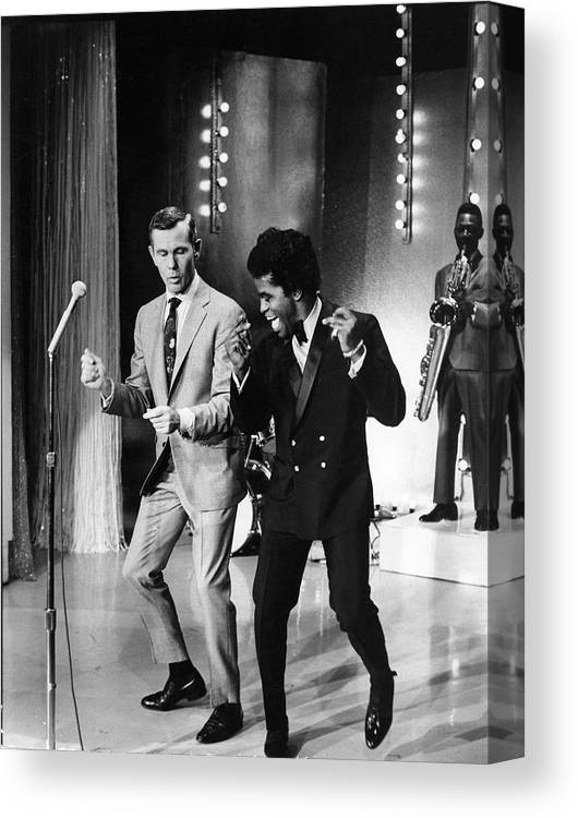 Singer Canvas Print featuring the photograph Johnny Carsonjames Brown by Arthur Schatz