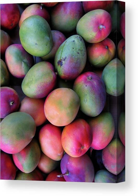 Mango Fruit Canvas Print featuring the photograph Mango Mania by Digi guru
