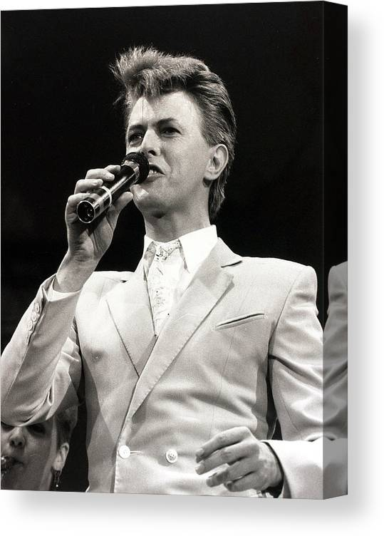 David Bowie Canvas Print featuring the photograph Music. Wembley Stadium, London by Popperfoto