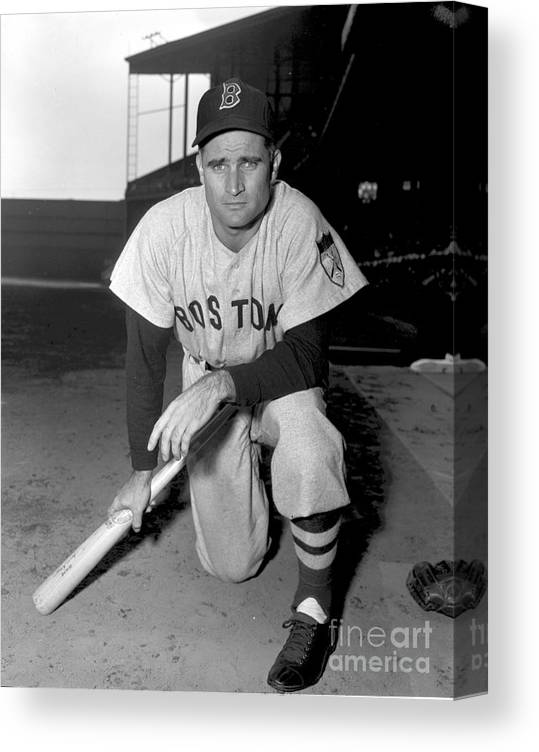 American League Baseball Canvas Print featuring the photograph Bobby Doerr by Kidwiler Collection