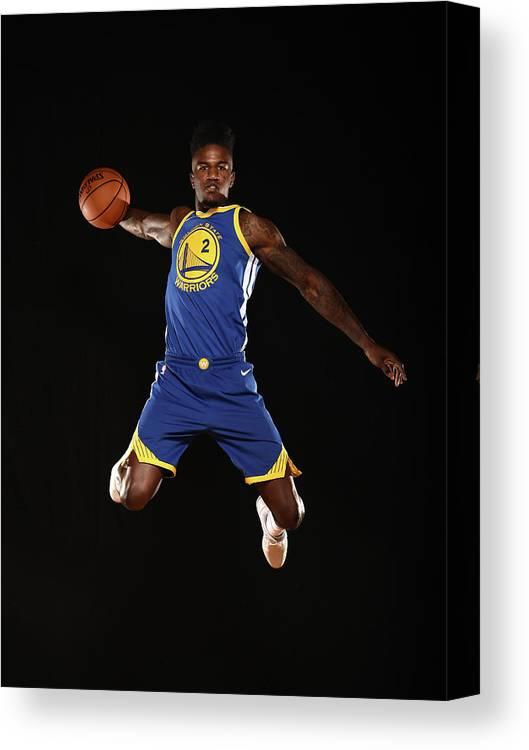 Nba Pro Basketball Canvas Print featuring the photograph Jordan Bell by Brian Babineau