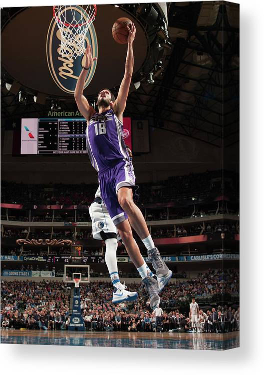 Nba Pro Basketball Canvas Print featuring the photograph Omri Casspi by Glenn James