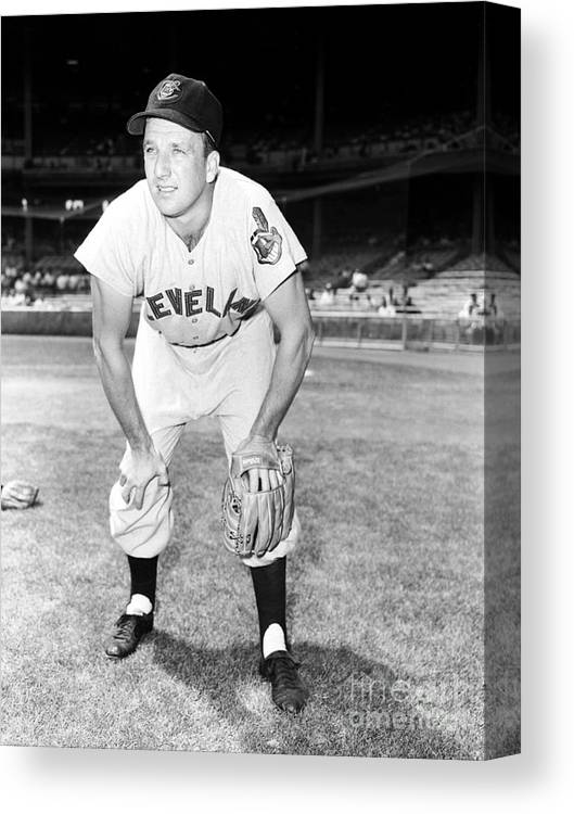 People Canvas Print featuring the photograph Ralph Kiner by Kidwiler Collection