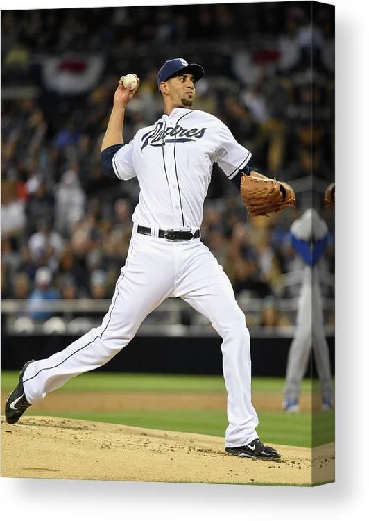 California Canvas Print featuring the photograph Tyson Ross by Denis Poroy