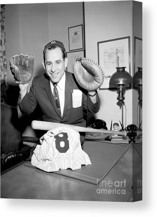 People Canvas Print featuring the photograph Yogi Berra by Olen Collection