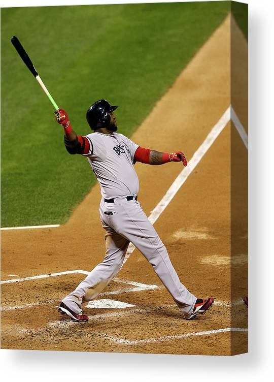 American League Baseball Canvas Print featuring the photograph David Ortiz by Elsa