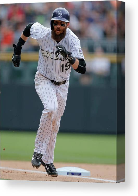 People Canvas Print featuring the photograph Charlie Blackmon by Doug Pensinger