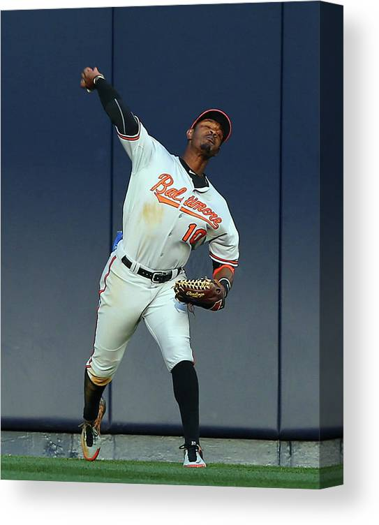 American League Baseball Canvas Print featuring the photograph Adam Jones by Elsa