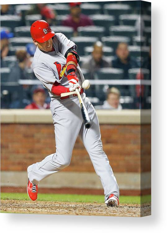 St. Louis Cardinals Canvas Print featuring the photograph Allen Craig by Jim Mcisaac