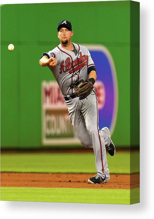 American League Baseball Canvas Print featuring the photograph Andrelton Simmons by Mike Ehrmann