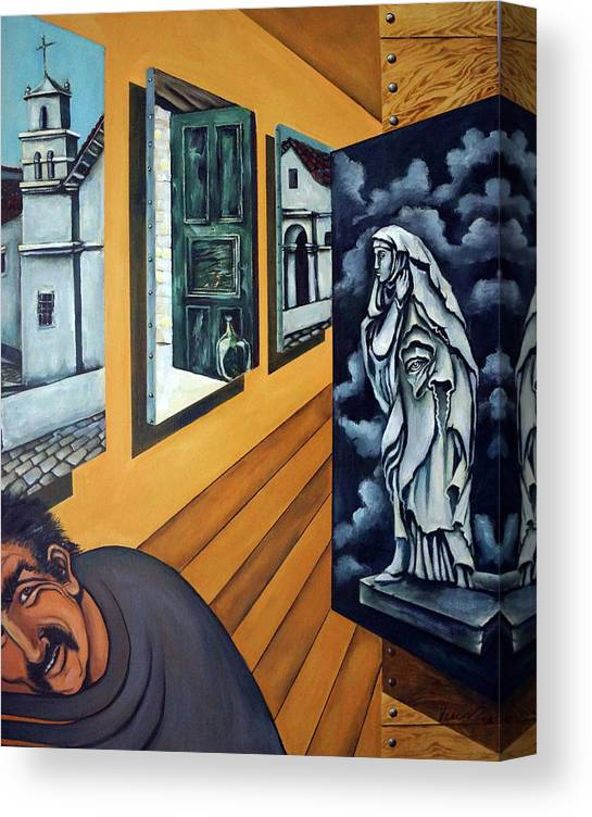 Surreal Canvas Print featuring the painting Asylum by Valerie Vescovi