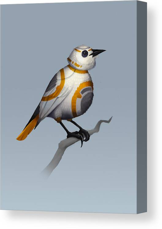 Birds Canvas Print featuring the digital art BB Bird by Michael Myers
