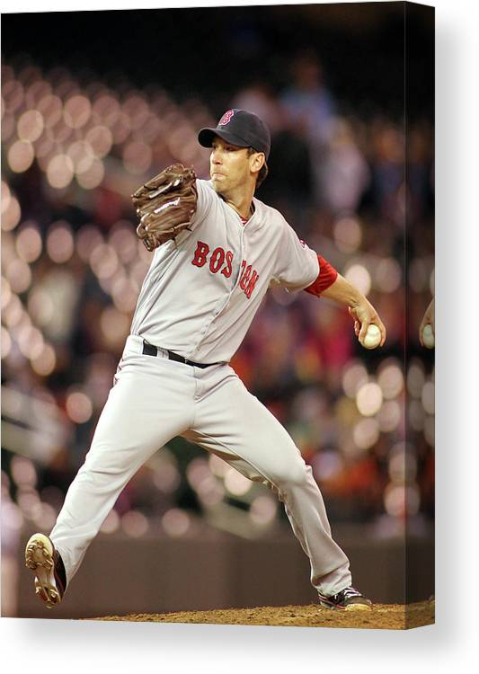 American League Baseball Canvas Print featuring the photograph Craig Breslow by Andy King