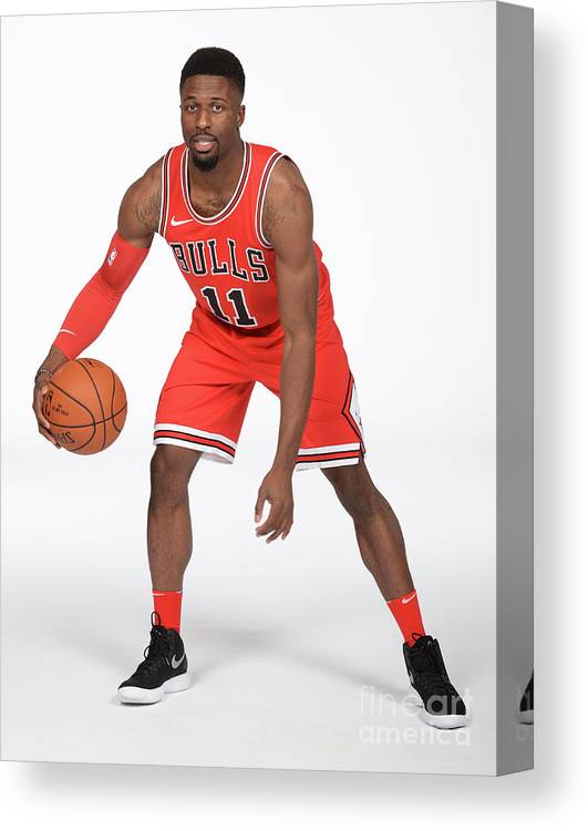 Media Day Canvas Print featuring the photograph David Nwaba by Randy Belice
