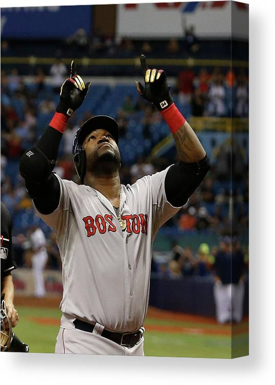 David Ortiz Canvas Print featuring the photograph David Ortiz and Matt Moore by Brian Blanco
