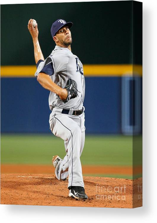 Atlanta Canvas Print featuring the photograph David Price by Kevin C. Cox
