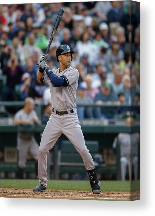 People Canvas Print featuring the photograph Derek Jeter by Otto Greule Jr