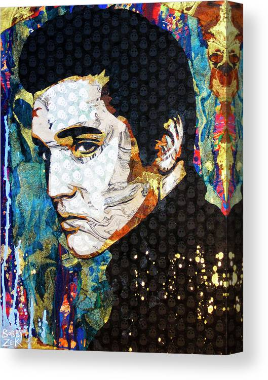 Elvis Canvas Print featuring the painting Elvis by Bobby Zeik