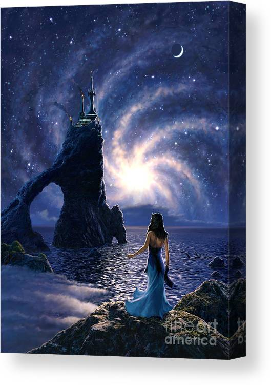 Space Canvas Print featuring the painting Far Synura by Stu Shepherd