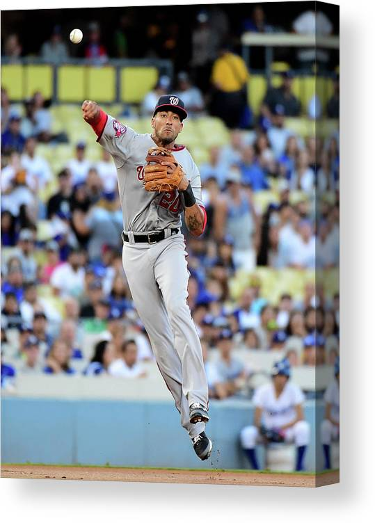 People Canvas Print featuring the photograph Ian Desmond by Harry How
