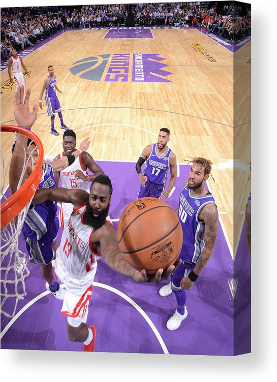Nba Pro Basketball Canvas Print featuring the photograph James Harden by Rocky Widner