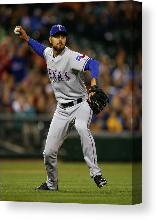 American League Baseball Canvas Print featuring the photograph Joakim Soria by Otto Greule Jr