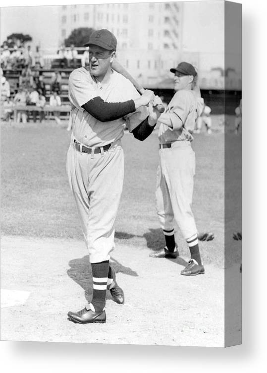 1930-1939 Canvas Print featuring the photograph Joe Cronin by National Baseball Hall Of Fame Library